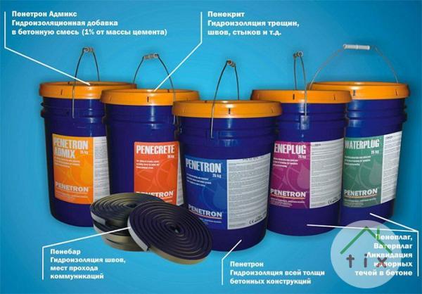 Гидроизоляционный  материал — Пенекрит, Пенетрон