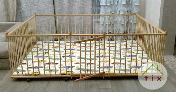 Манеж детский самый большой деревянный 2.0х2.5м