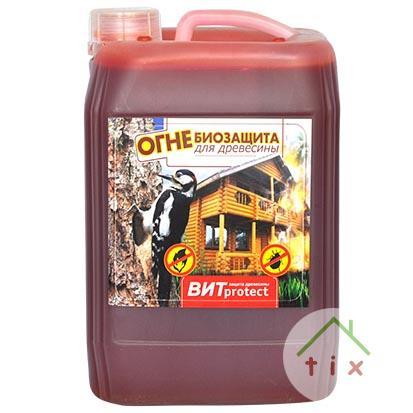 Огнебиозащитный состав для древесины ВИТ protect 10 л