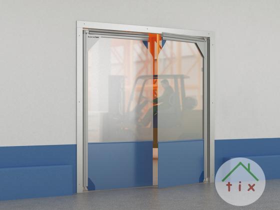 Плёночные маятниковые двери