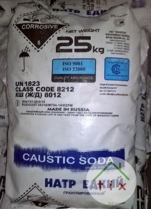 Сода каустическая в мешках 25кг