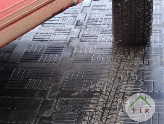 Литое резиновое для гаража сборное покрытие из плиток Резиплит – Паркет