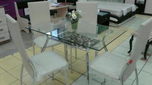 Стол стеклянный прямоугольный 110*70 см