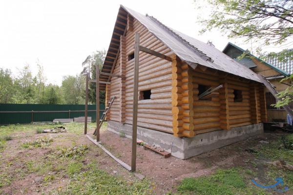 Новый дом в Вырице из бревна 110 м.кв.