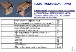 Программатор КСМА для стиральной машины Вятка-автомат