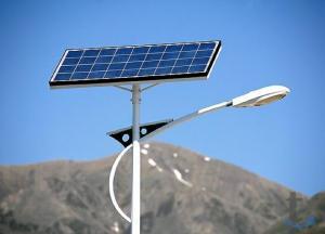 Светильник с зарядом от солнца