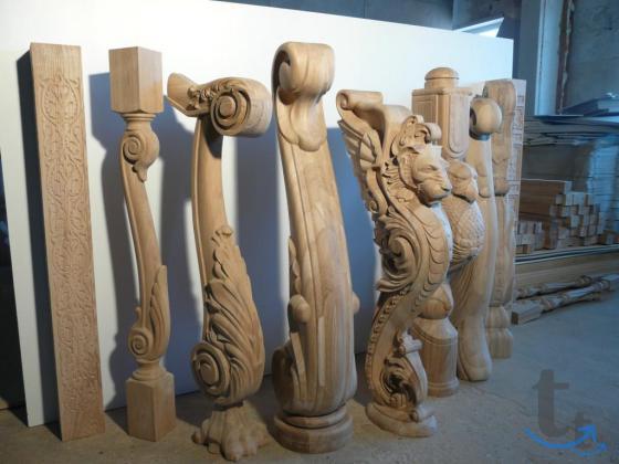 Резные столбы для лестниц и... в городеЯрославль