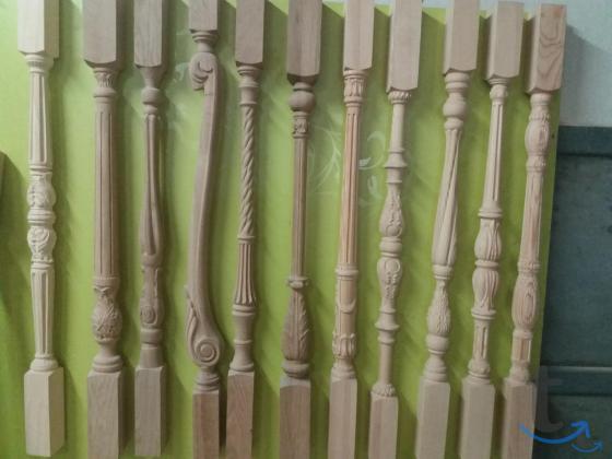 Резные столбы для лестниц из дуба, бука и сосны.