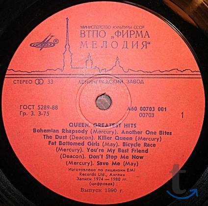 Пластинка виниловая Queen – Greatest Hits
