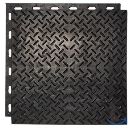 Напольное покрытие для гаража из резиновой плитки