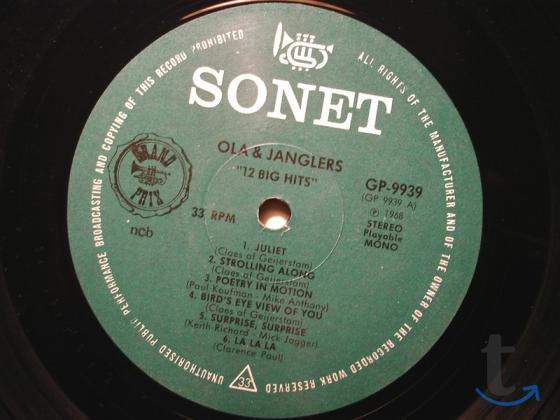 Пластинка виниловая  Ola and The Janglers – 12 Big