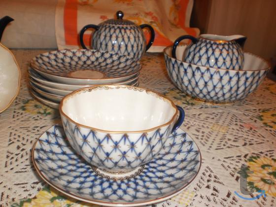 Чайный фарфоровый сервиз лфз
