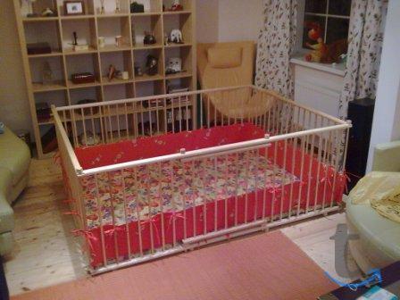 Большой детский деревянный манеж 1.5х2.0м с калиткой