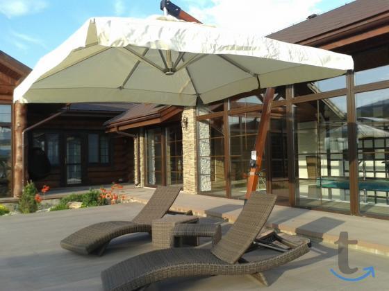Зонт на боковой опоре 2.5 х 2.5 м. (деревянный)