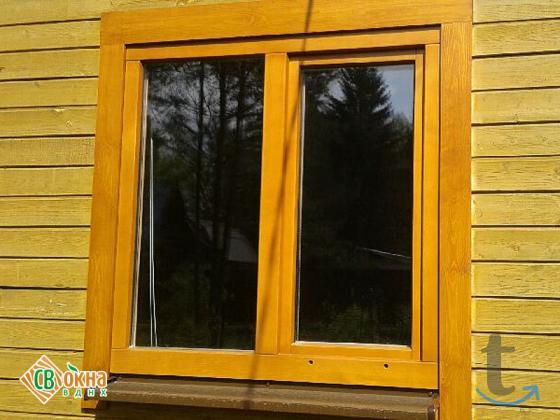 Дешевые деревянные окна со ...