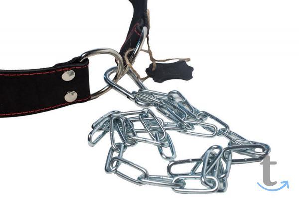 Пояс кожаный с цепью для отягощения