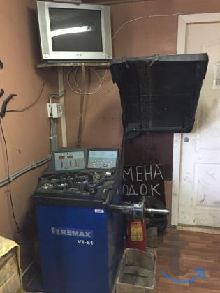 Шиномонтажное оборудование в комплекте практически не использовалось .