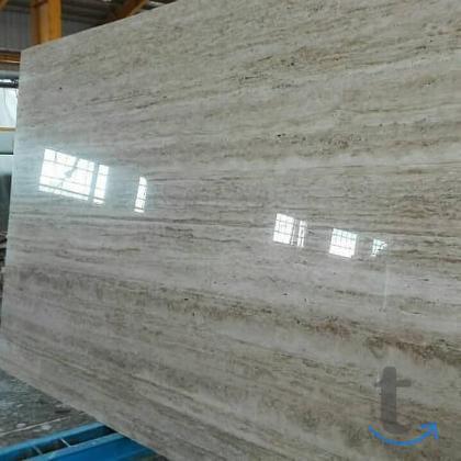 полосатый камень травертин для фасада и пола