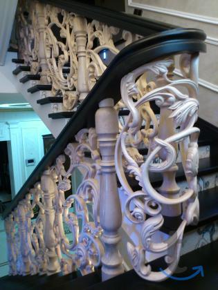 Лестница деревянная резная в городеКраснодар