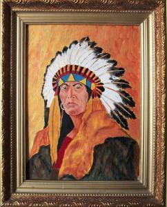 Портрет  вождя  племени  гу... в городеМосква