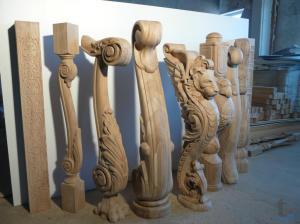 Резные столбы для лестниц из дуба, бука и сосны. в городеЯрославль