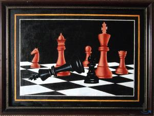 Шахматы в живописи № 1