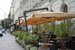 Зонт на боковой опоре 4 х 4 м. в городеКраснодар
