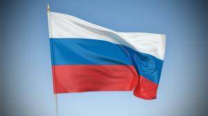 Флаг России новый, с этикеткой.