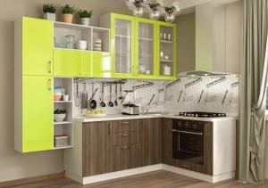 Кухня угловая Пластик 1700х2500 (модульная)
