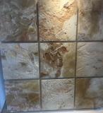 Мозаика из природного камня травертина мрамора оникса