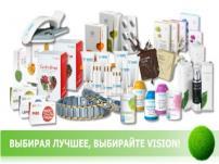 Продукция Бады VISION - Комфортный путь к здоровью