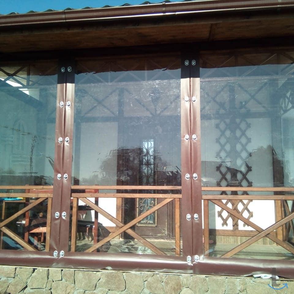 Прозрачные шторы ПВХ для беседки...