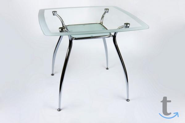 Стол стеклянный квадратный
