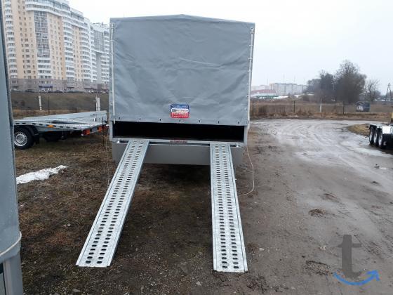 Прицеп-лафета для перевозки авто или спец техники