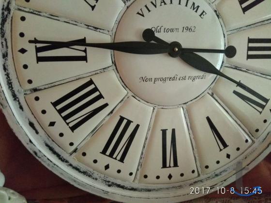 Часы настенные ручной работы в стиле кантри шебби-шик