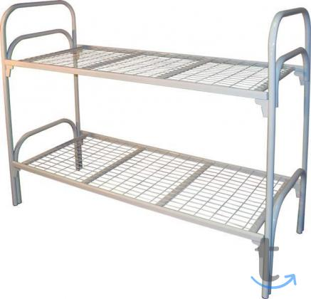 Двухъярусные кровати металлические эконом класса