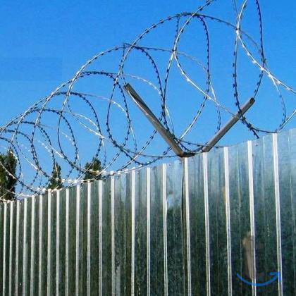 Проволока колючая, спиральный барьер безопастности