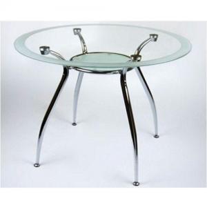 Стол стеклянный круглый