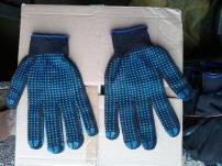 Продам перчатки рабочие х/б с ПВХ