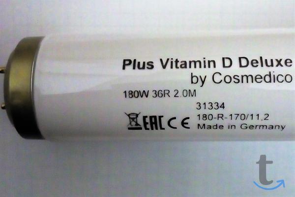 Лампы для соляриев  Plus Vitamin D Delux 160-180w 190см.3.6  (by Cosmedico)