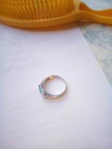 Кольцо серебряное с бериллом в городеМосква