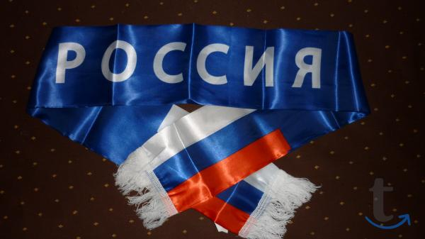 легкий шарф РОССИЯ в городеСанкт-Петербург