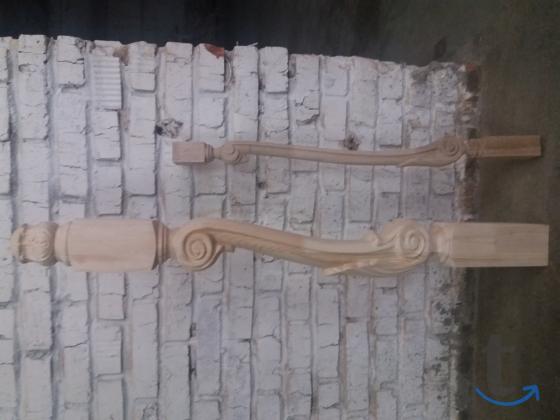 Резные балясины из дерева для лестниц.