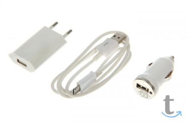 Комплект зарядки Luazon, 2 в 1, 1 А, с USB кабелем