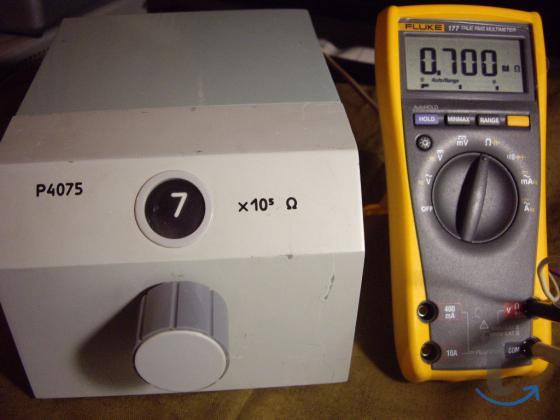 Р4075 Магазин сопротивления.  Класс точности  0,02