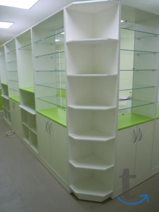 Торговая мебель для аптеки - аптечные витрины на заказ в Хабаровске