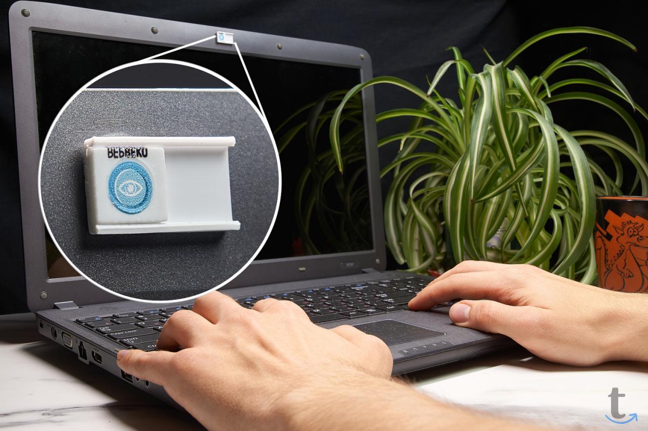 Шторка заглушка для веб-камеры о...
