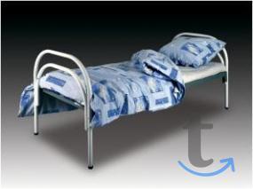 Одноярусные металлические кроват...