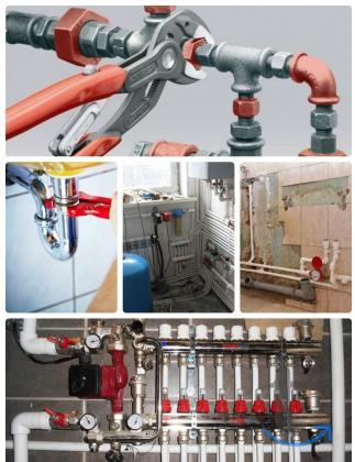 Монтаж систем отопления,водопровод,канализация.