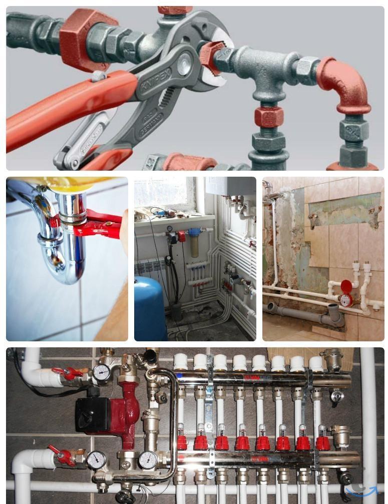 Монтаж систем отопления,водопров...